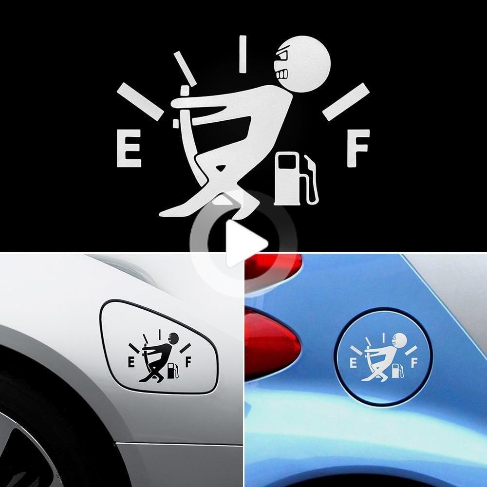 1 Pcs Funny Car Sticker Pull Fuel Tank Pointer To Full Hellaflush Reflective Vinyl Car Sticker Car Stickers Funny Car Sticker Design Car Humor [ 1000 x 1000 Pixel ]