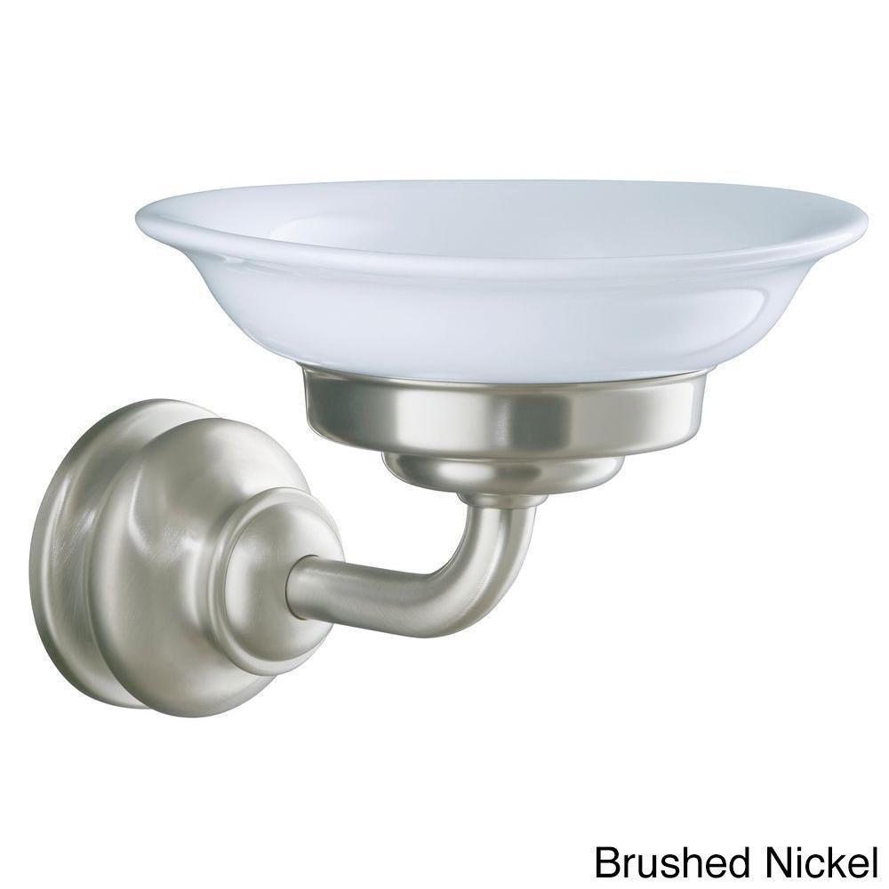 Kohler Fairfax Wallmount Soap Dish Brushed Nickel And Glass - Kohler fairfax bathroom accessories