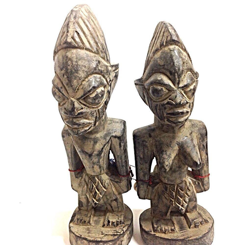 Inch Ibeji Twins Estatua Orisha Santeria Yoruba Figurine Nigeria
