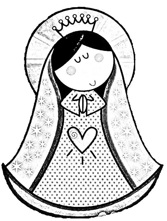 Dibujos Para Colorear De Virgencita Plis Bellas Imagenes Paper