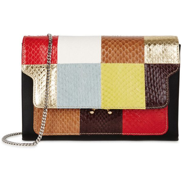 Marni Trunk Snake And Leather Clutch ($1,400) ❤ liked on Polyvore ...
