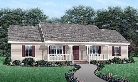 very simple...but no garage | Diy house plans, Ranch style ... on small house plans with no garage, duplex plans with no garage, ranch home plans with carport, ranch home plans with breezeway, ranch home plans with pool,