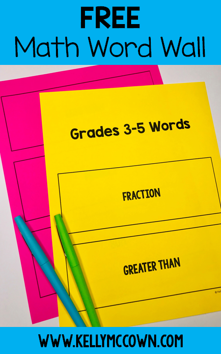 This Word Wall Math Is Perfect For 3rd Grade 4th Grade And 5th Grade Incorporate A Word Wall Into Your Math Word Walls Math Words Third Grade Math Activities