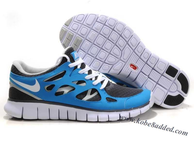 info for 5b8d7 8b988 Mens Nike Free Run 2 Blue Black White Shoes 443815-007