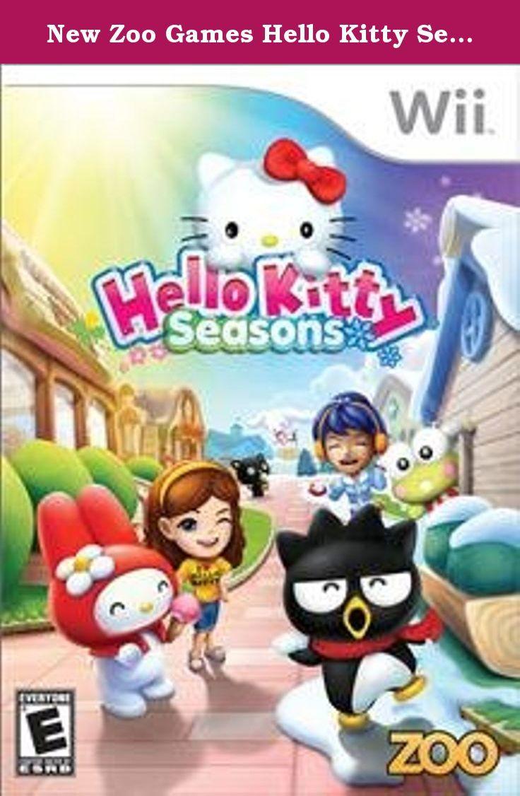 New Zoo Games Hello Kitty Seasons Kids Vg Wii Platform