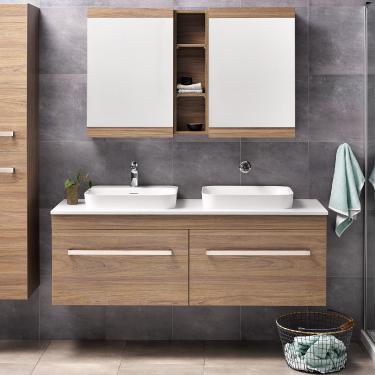 Sirocco Soltero 1500db Wall Dusky Elm Fero Handle Frosty Carrina Bench Serifos Basin Rrp 4380 In 2020 Wall Unit Furniture Vanity Bathroom Design