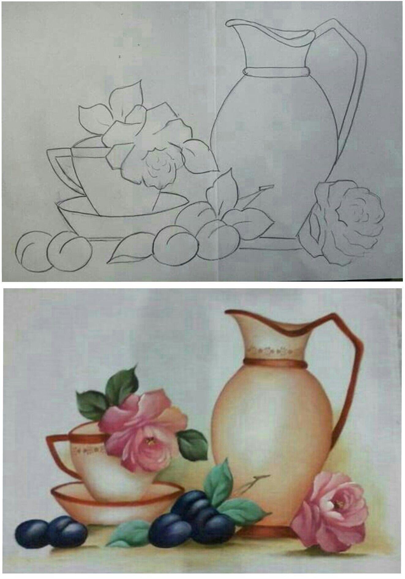 New Pintura Em Tecido Flores Como Fazer Pintura Jarros