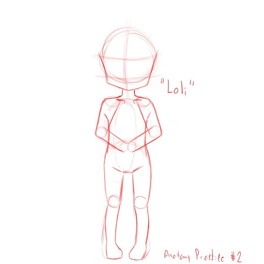manga anatomy practice #2 - loli body by mariutoo | Projekty do ...