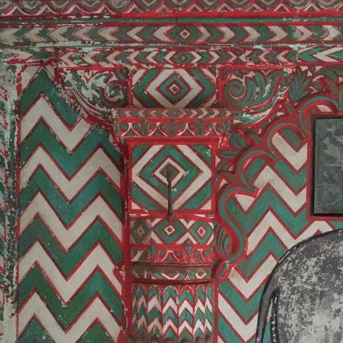 Painted wall detail at Juna Mahal in Dungapur - @lovetravelindia...