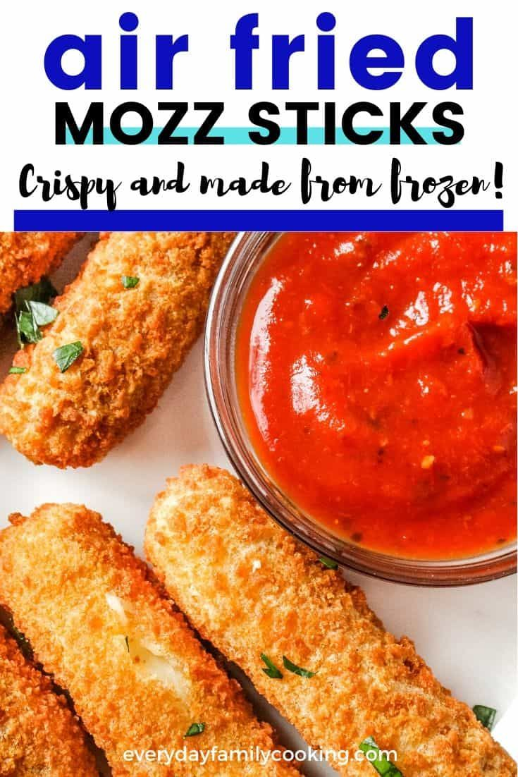 How to make air fryer mozzarella sticks without making the