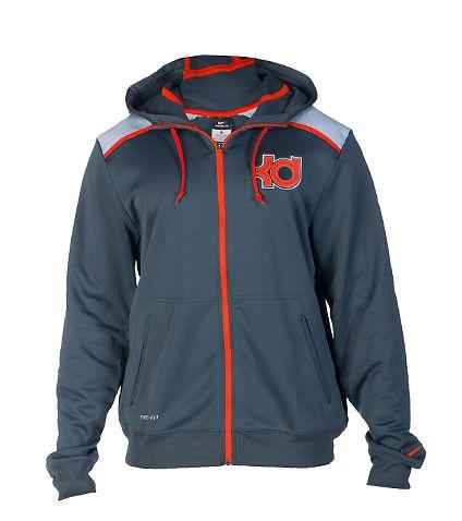 NIKE Kevin Durant hoodie Adjustable drawstring on hood Full zip closure  Long sleeves Dual front zip