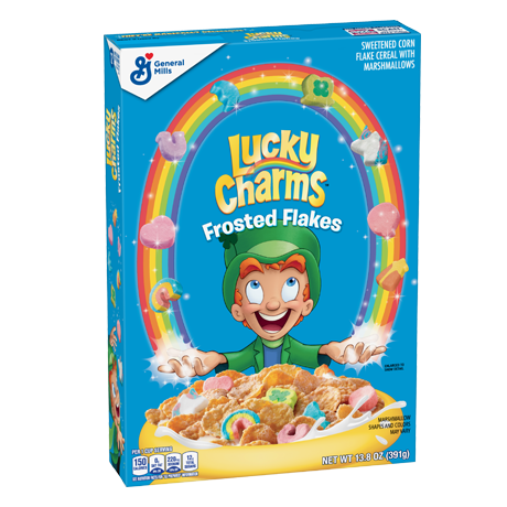Frosted Flakes Cereal Bars No Bake Snack Recipe Lucky Charms Lucky Charms Cereal Marshmallow Cereal Breakfast Cereal