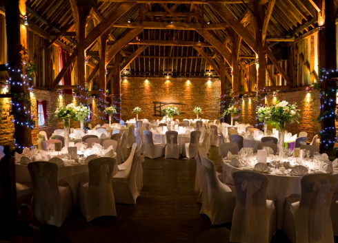 Cooling Castle Barn Kent England I Love Te Atmosphere Because You Onl Need Table Flowers And Christmas Lights Its Gorgeous