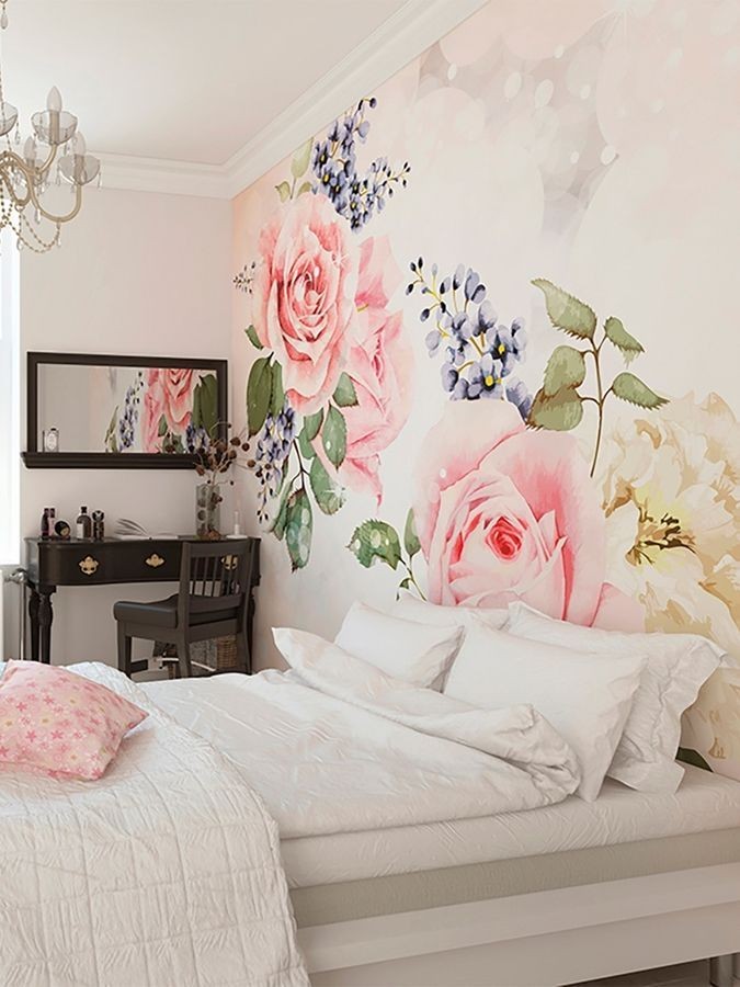 Brewster Roses and Sparkles Wall Mural Products Pinterest Wall