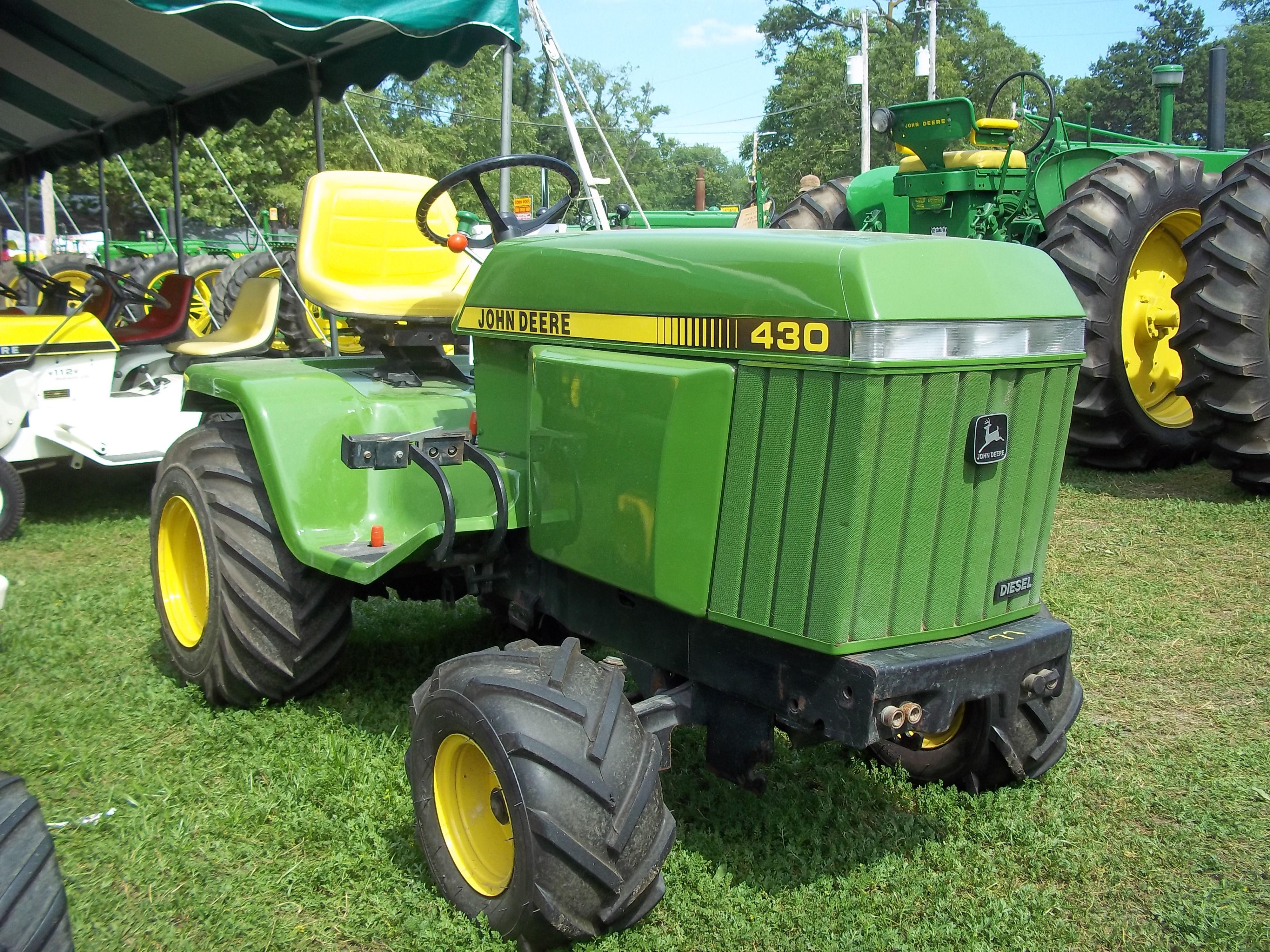 Small Garden Tractor · Big powerful John Deere 430 Landscaping Equipment,  Lawn Equipment, John Deere Equipment, Heavy