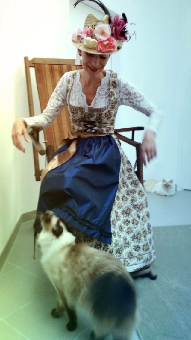 My own Dirndl. Designed and sewn by me. Barbara von Tannenberg