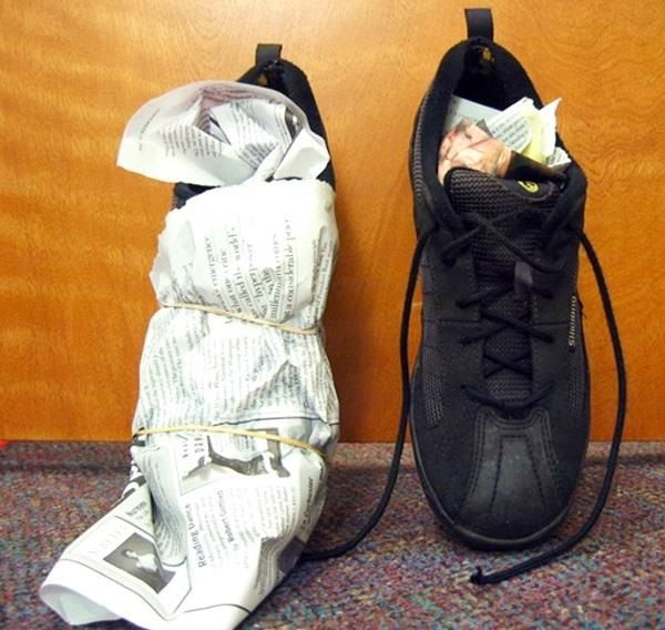 How to Dry Your Soaking Wet Shoes