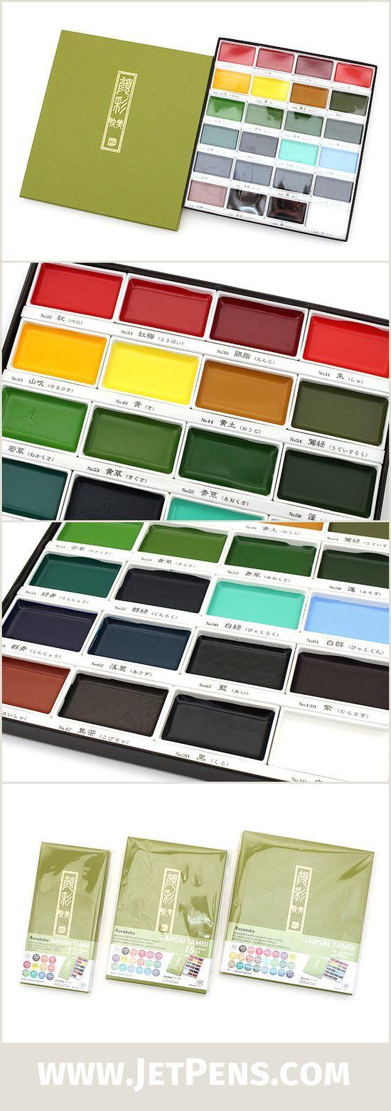 The 24 Color Kuretake Gansai Tambi Watercolor Palette Is Great For