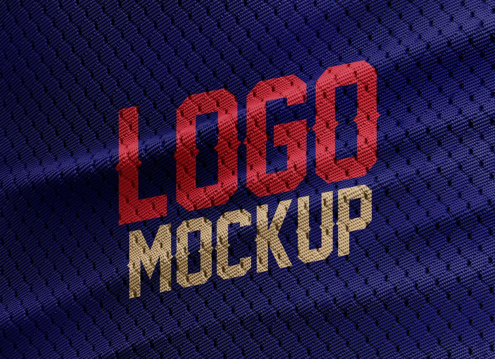 Download Free Sports Jersey Texture Logo Mockup Freebies Fribly Logo Mockup Free Logo Mockup Free Sport