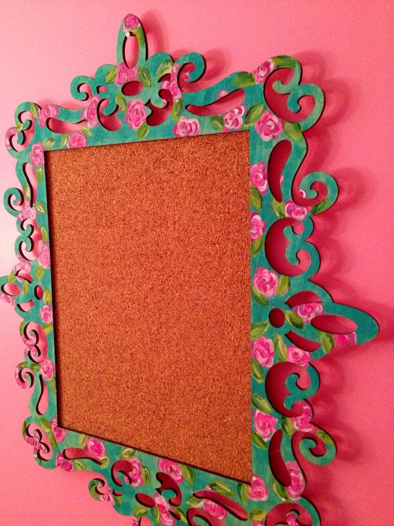 SALE Lilly Pulitzer Inspired Cork Board by FlowerlillyCreations, $3 ...