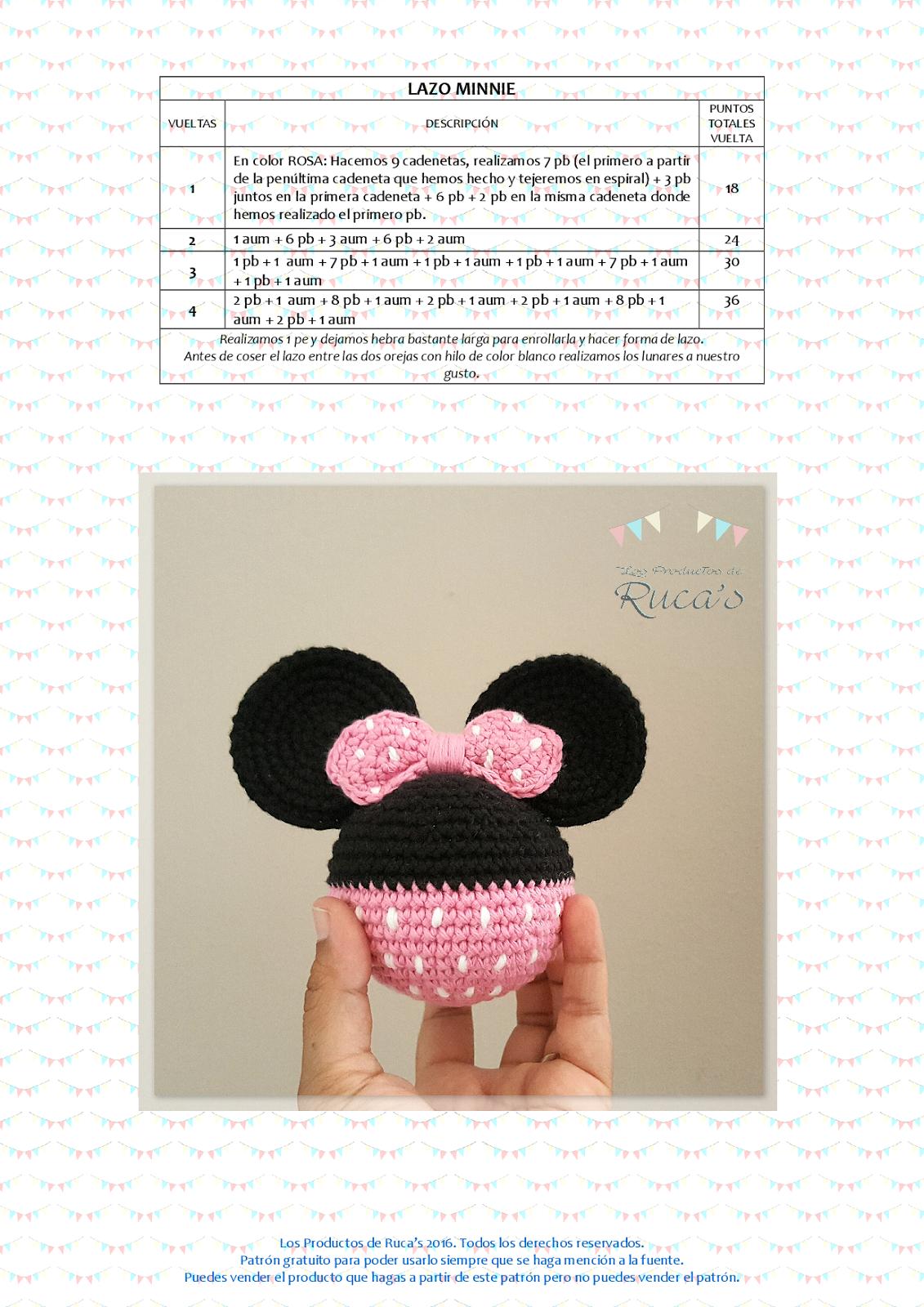 Reto Rucagurumis VI - Mantita de Apego Mickey / Minnie Mouse en 2018 ...