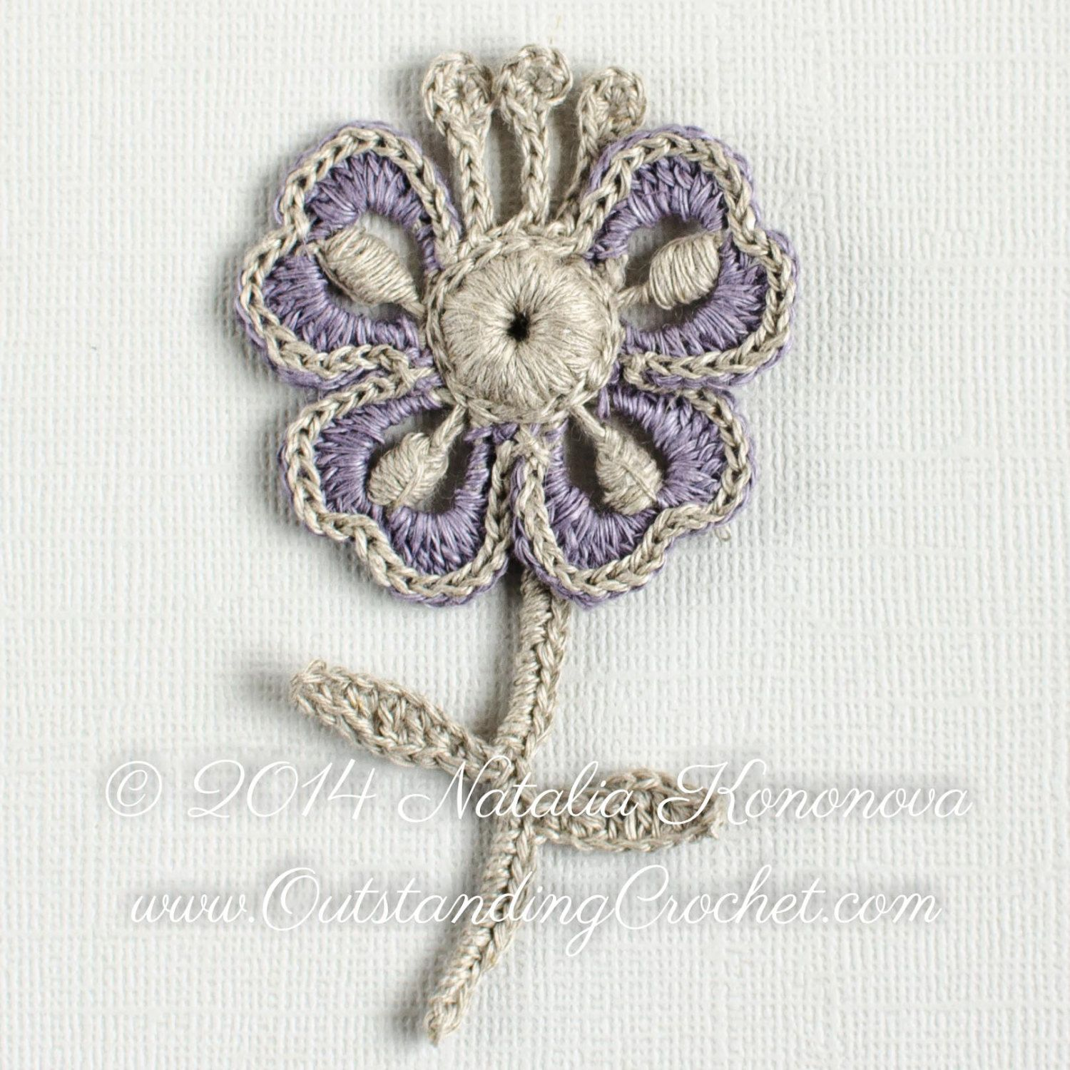 Irish crochet applique pattern wild geranium flower motif gift crochet flower motif applique pattern irish crochet motif pattern pdf instant download by outstandingcrochet dt1010fo