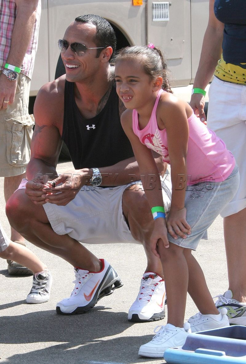 dwayne johnson's family photo gallery | Dwayne Johnson hangs out in Malibu with his daughter – Moms & Babies ...