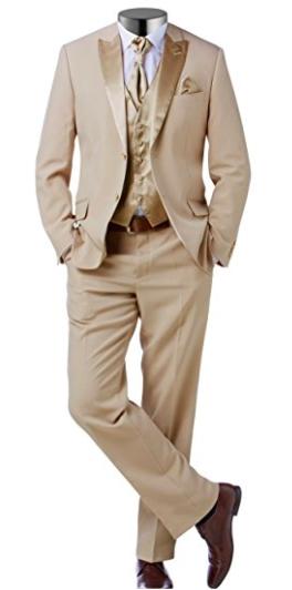 274fe206d73a50 Herren #Anzug in #Gold- #Beige für #Hochzeiten oder zum #exklusiven ...