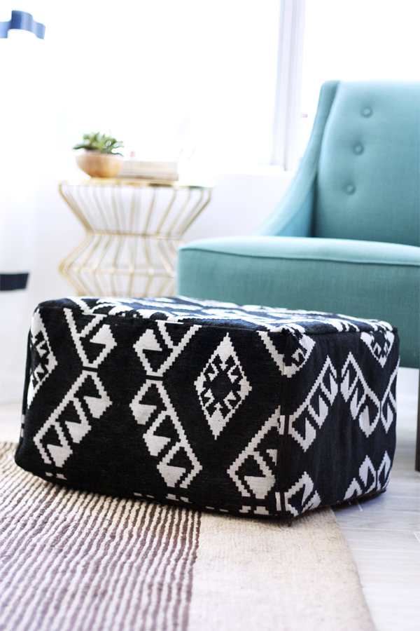 Diy Pouf You Need 1 5 Yards Of Fabric Scissors Ikea Cube Footstool Measure Faces Cut 6 Pieces Measuring Larger In Length And Width