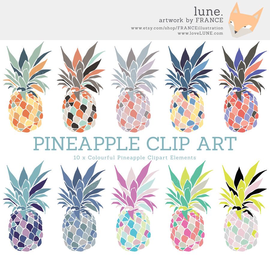 3 FOR 2. Pineapple Clipart. Ananas Clip Art. Pina Clipart ...