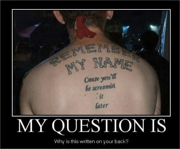 And why is it on his back???