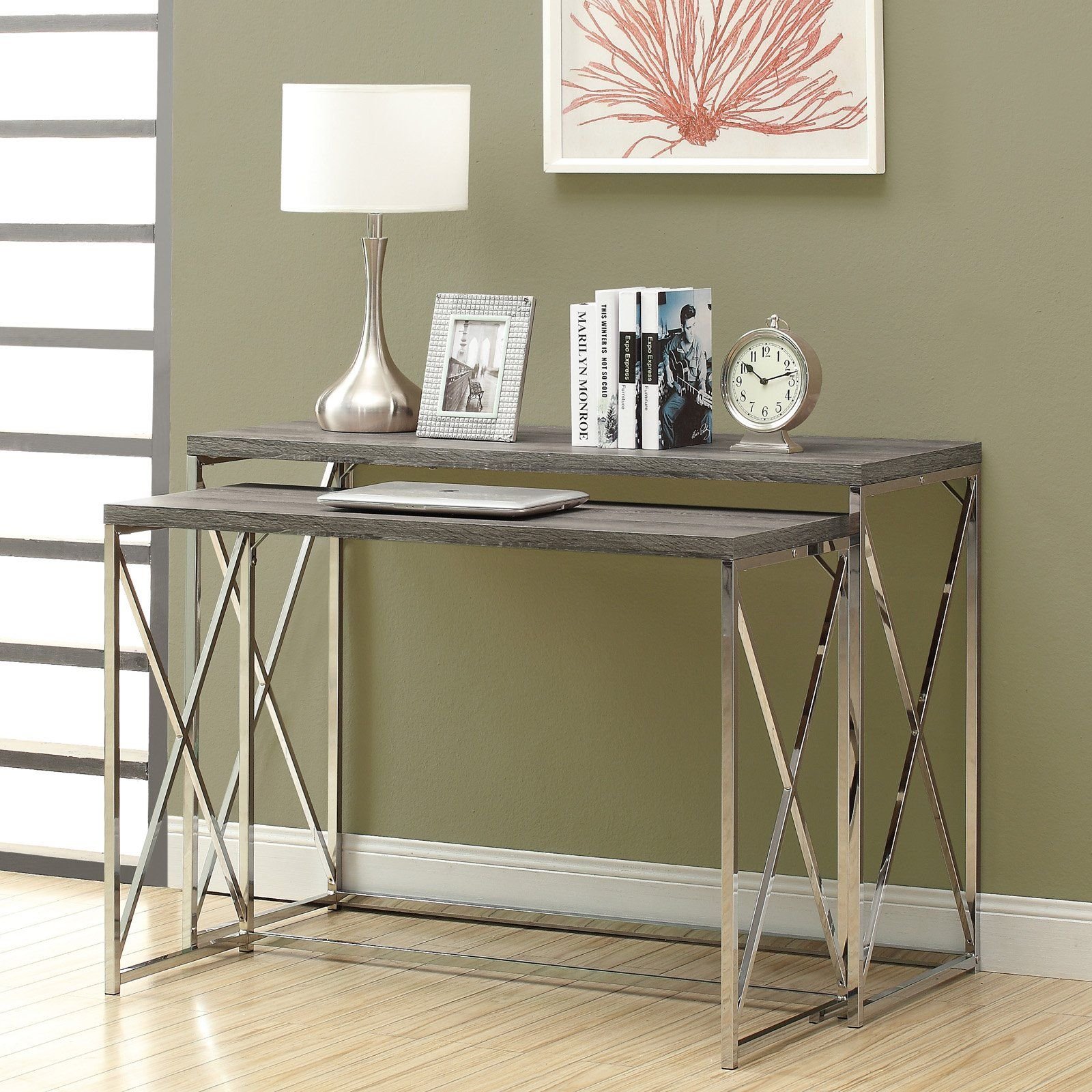 Have to have it. Monarch I 32 Reclaimed-Look Metal 2-Piece Console Table - Large - $249.99 @hayneedle