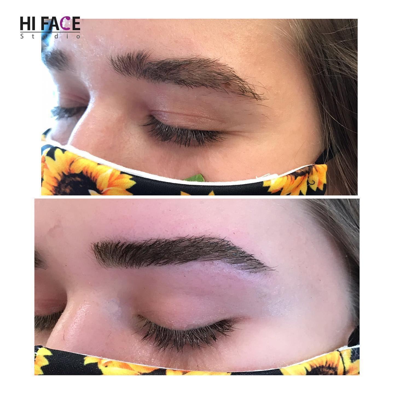 Saturday Look 🥰 . . . . #hifacestudio #brows #eyebrowshaping #eyebrows #browsonfleek #browshaping #browtinting #browtint