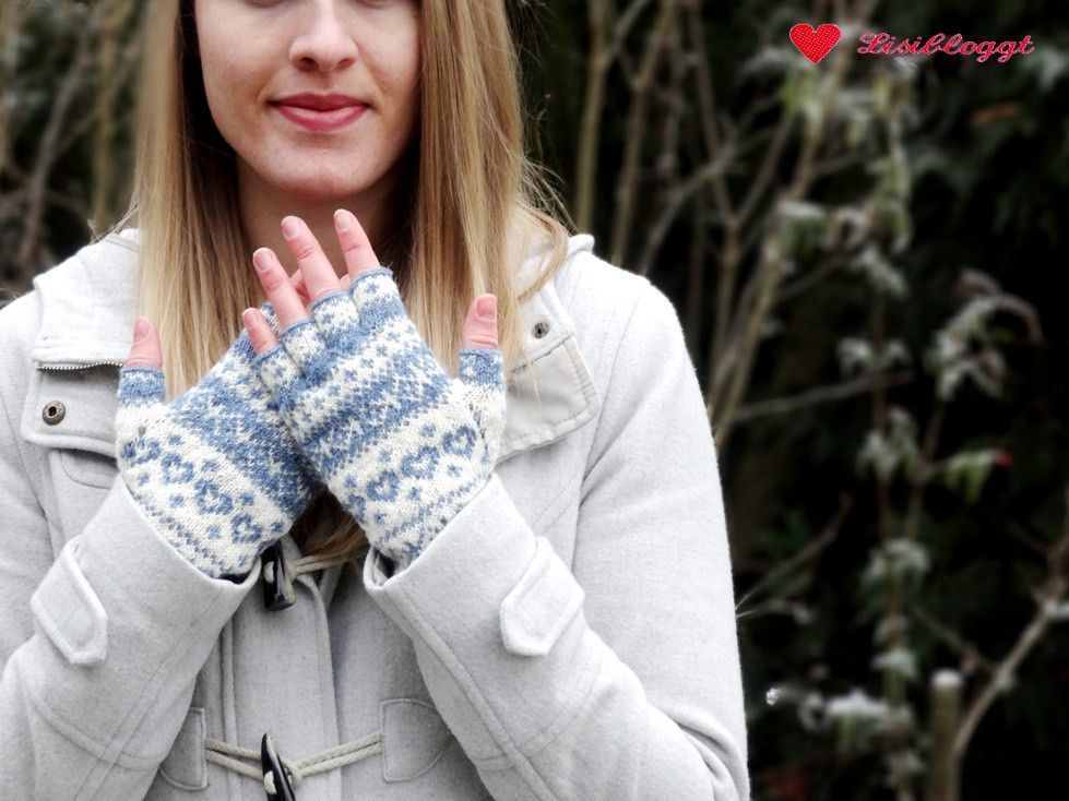 Photo of Instructions: Knit half-finger gloves with Norwegian pattern, #Instructions #Half …