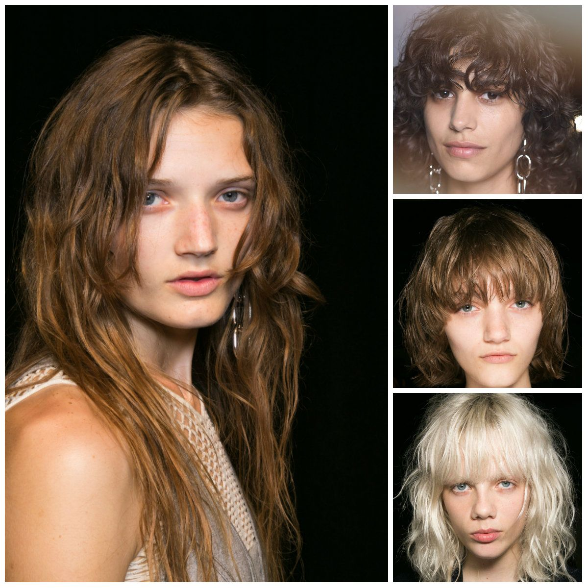 Messy Bohemian Hairstyles from Alexander Wang Fashion Week Spring 2016  2016 Hairstyles and Hair Color Trends