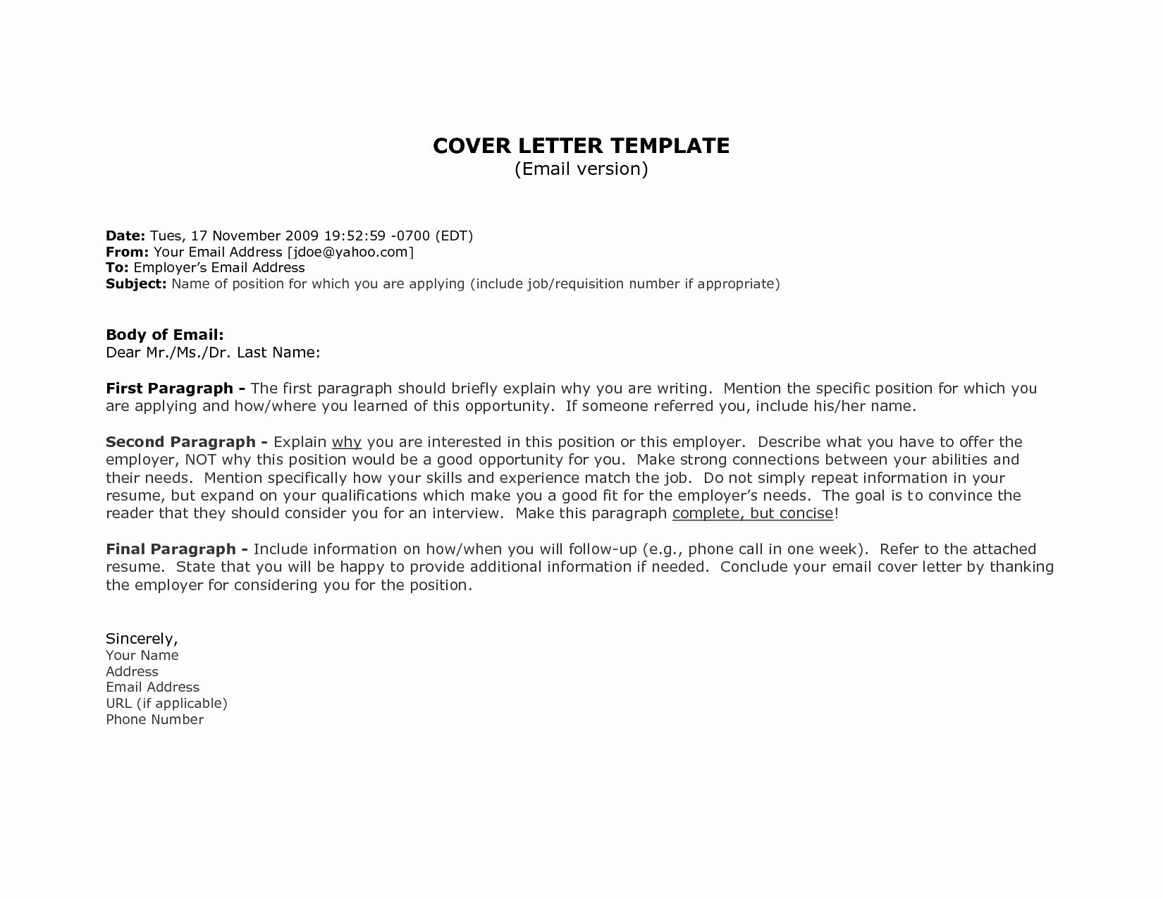 1St Job Cover Letter Template Resume Format in 2020