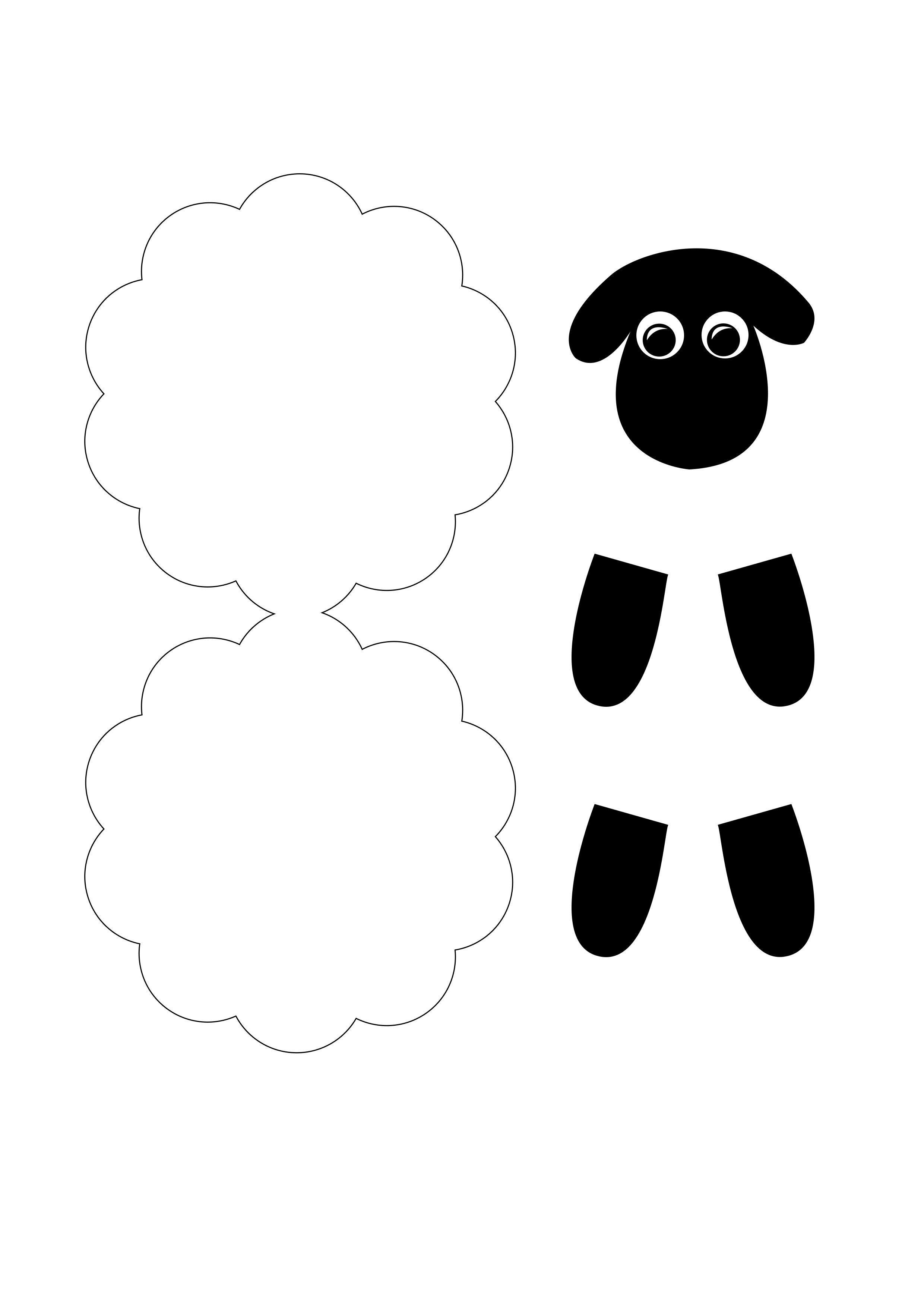 Schaf aus Papier mit Kindern basteln #animalcraftsforkids schaf schablone zum ba...