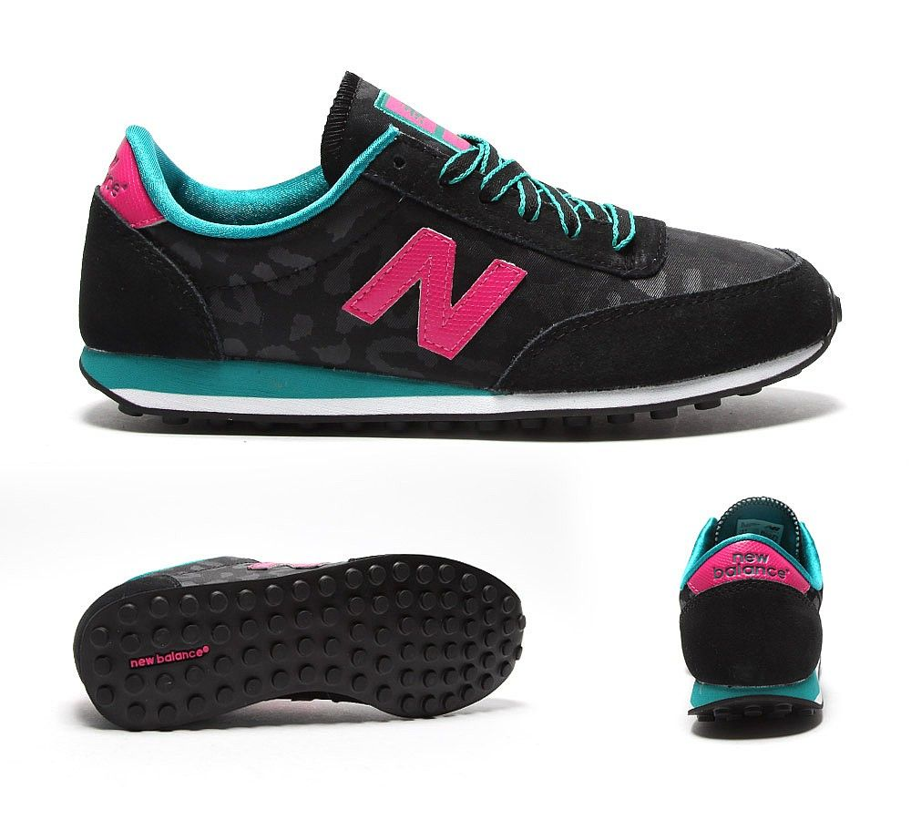 NEW BALANCE Womens 410 Leopard Trainer | Black / Teal / Pink | Footasylum
