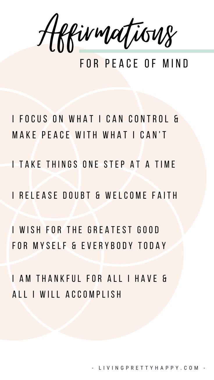 Affirmations and Mantras Page - Living.Pretty.Happy