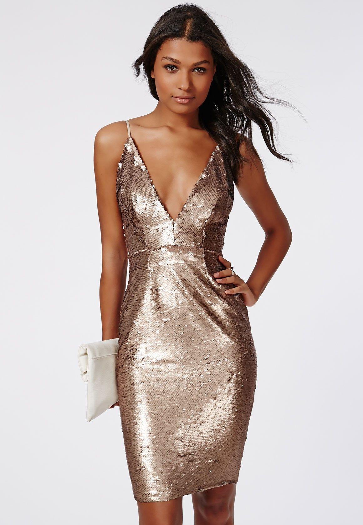 6df346b2 Leila Sequin Strappy Midi Dress Gold - Dresses - Midi Dresses - Missguided
