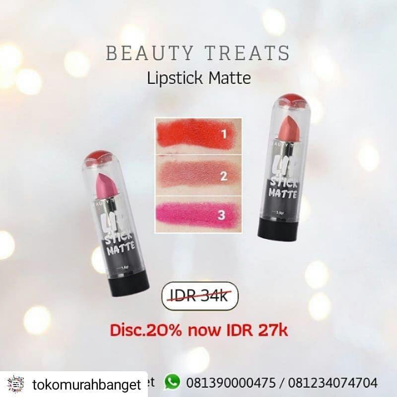 Repost Tokomurahbanget New Product Lipstick Matte Beauty Treats Idr 34k Diskon 20 Repost Tokomurahbanget New Beauty Treats Lipstick Beauty