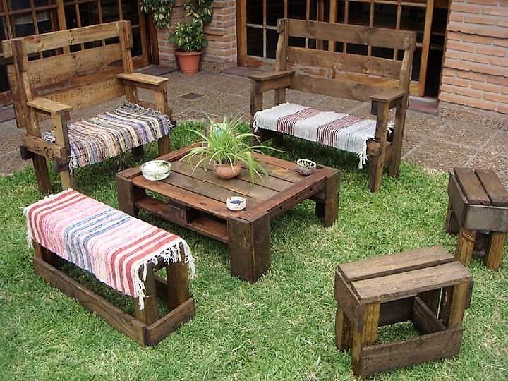 rustic patio pallet furniture outdoor
