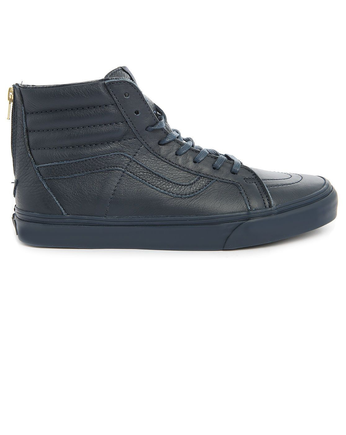 a73c43e86d Vans Sk8 High-Top Navy Leather California Zipper Sneakers in Blue for Men  (navy)
