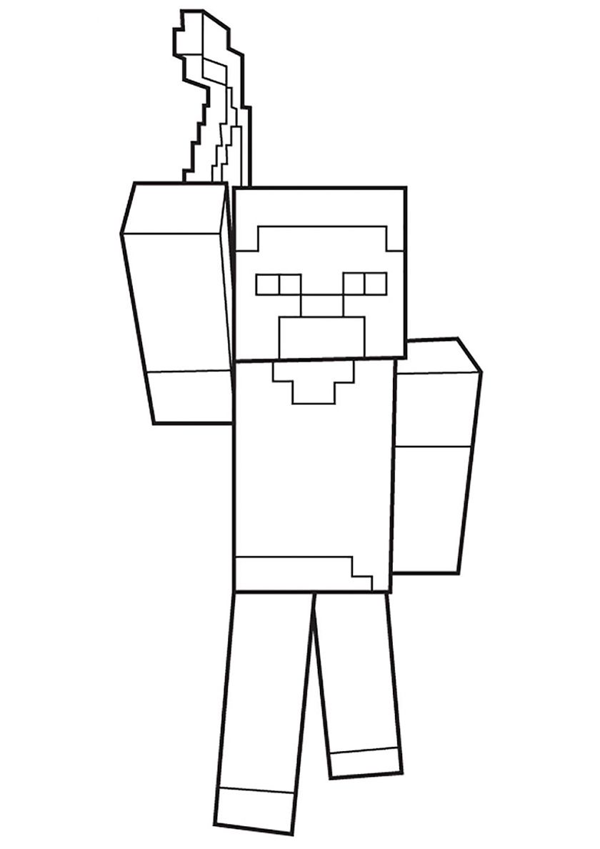 Herobrine - high-quality free coloring from the category ...