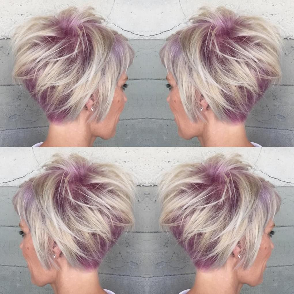 short shaggy spiky edgy pixie cuts and hairstyles pastel