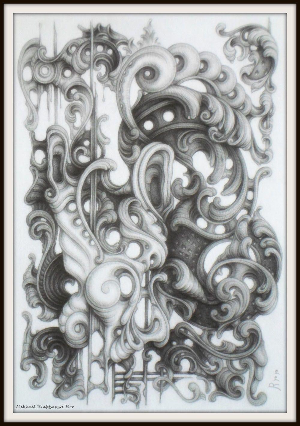 Drawing By Mikhail Riabtsovski Rrr Modern Interpretation Of The Baroque Style Baroque Fashion Drawings Modern Artists