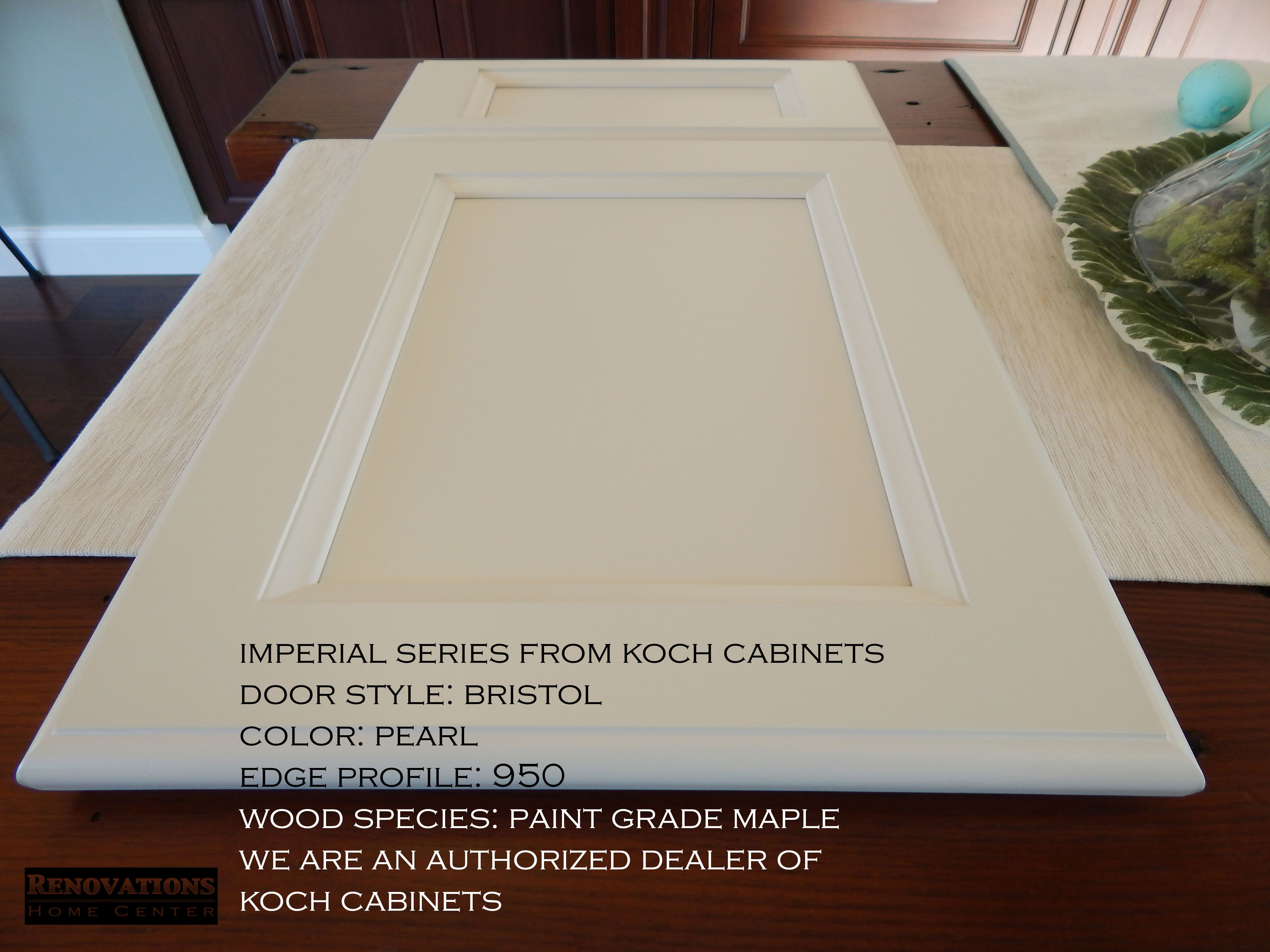 Imperial Series From Koch Cabinets Door Style Bristol Edge Profile 950 Wood Species Paint Grade M Wood Species Kitchen Cabinets In Bathroom Edge Profile