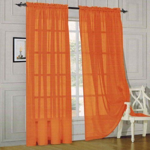 Pin By Robyn Raysor On Lyttonsville Changes Orange Curtains