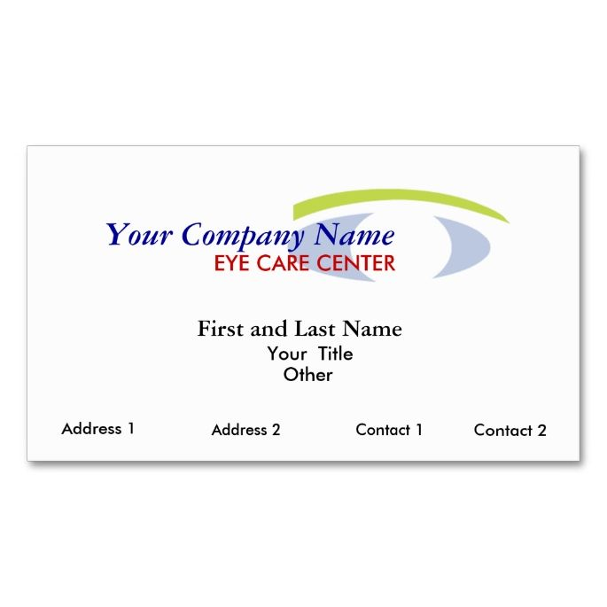 eye logo2copy, First and Last Name, Address 1, Double-Sided - name and address template