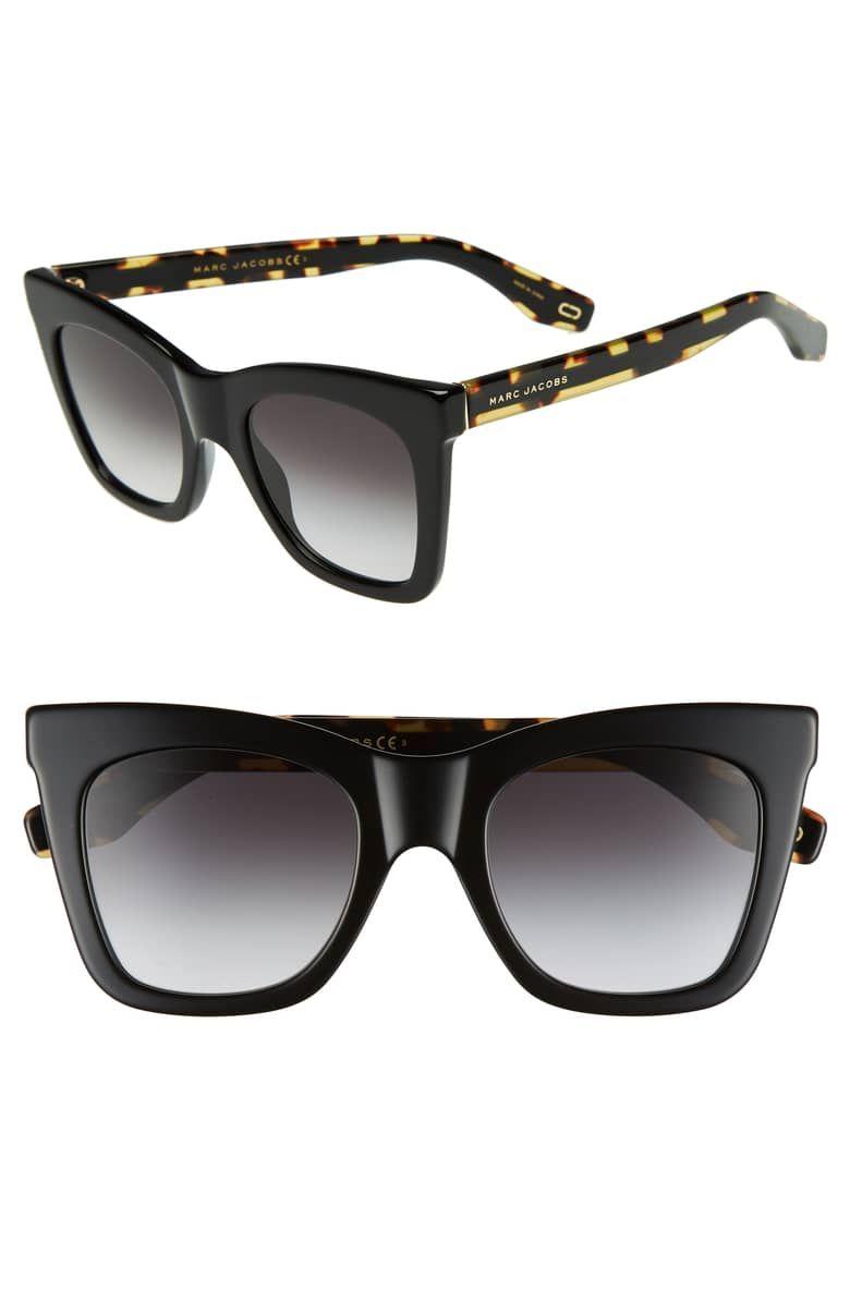 cdcfcf7d5e67 50mm Cat Eye Sunglasses, Main, color, BLACK | Accessories | Cat eye ...